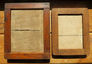 (two) Antique Camera Wood Contact Printing Frame Plates Scovill Ny