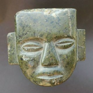 Pre Columbian - Teotihuacan Mask - Green Stone - Ex Major House - Nr