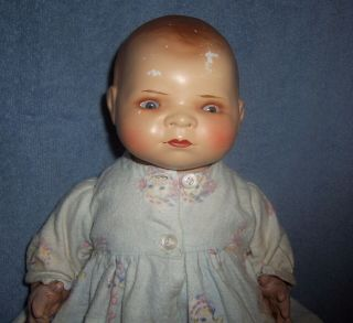 "Antique Vintage 16 "" German Baby Doll Bisque Head Marked Grace S Putnum Bye - Lo"