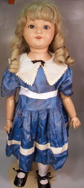 Rare Antique Composition Nedco Doll,  27 Inch,  England Doll Company