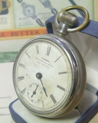 Scarce 1890s R H Ingersoll & Sons Yankee Early Back Wind Pocketwatch Ufix L@@k