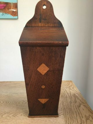 Antique Wooden Candle Box - Arts And Crafts Style