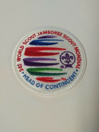 2019 24th World Scout Jamboree White Border Head Of Contingent
