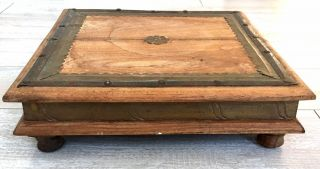 Antique Vintage Wooden Short Tea Table Stool Indian,  Persian,  Primitive Country