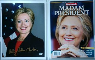 Hillary Clinton Newsweek Madam President Recalled Error / Authentic Signed