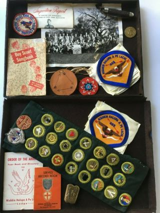 Vtg Bsa Boy Scout Jamboree/lodge Badges,  Patches,  Knife,  Coin,  Books,  Aquatic