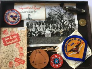 VTG BSA BOY SCOUT JAMBOREE/LODGE BADGES,  PATCHES,  KNIFE,  COIN,  BOOKS,  AQUATIC 2