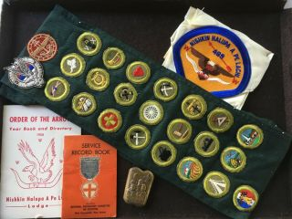 VTG BSA BOY SCOUT JAMBOREE/LODGE BADGES,  PATCHES,  KNIFE,  COIN,  BOOKS,  AQUATIC 3