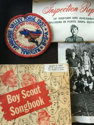 VTG BSA BOY SCOUT JAMBOREE/LODGE BADGES,  PATCHES,  KNIFE,  COIN,  BOOKS,  AQUATIC 6