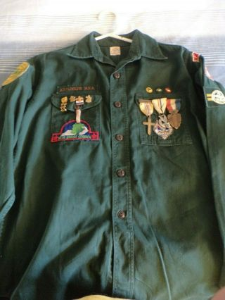 1954 Explorer Uniform W/ Silver Medal & Badge,  Trail & Religious Madals & More