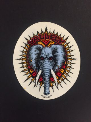 Nos 1980s Powell Peralta Mike Vallely Elephant Emblem Sticker (5 X 4.  5)