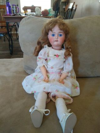 """Antique 22 """" Tall Special 4 Germany Bisque Doll Rare"""