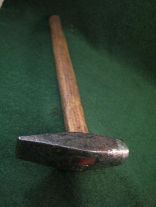 Primitive Hammer Forged Hand Made Handle The 2 3/4 In Head Is Tight 9 In Handle