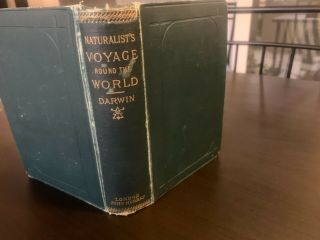 Darwin Naturalist's Voyage Round The World,  Book Antique,  London John Murray
