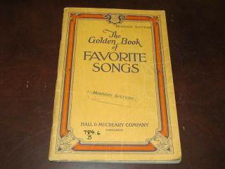 Antique 1946 Songbook The Golden Book Of Favorite Songs Hall & Mccreary Chicago