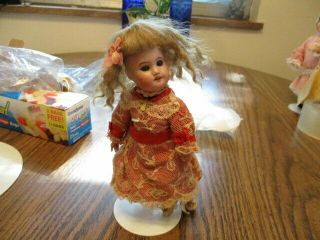 """About 7 """" Antique French Doll Marked """" Sfbj """" 60"""