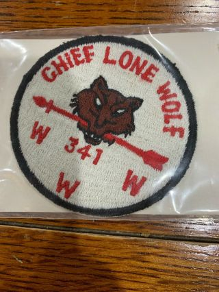 Older Oa Chief Lone Wolf Patch Lodge 341 R1b