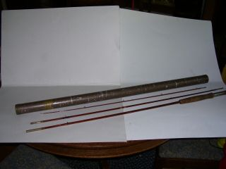 Vintage Antique 1938 Goodwin Granger 8 Ft Bamboo Fly Rod W/ Tube