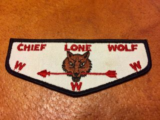 Vintage Oa Scout Patch Chief Lone Wolf