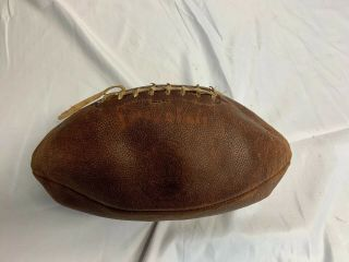 Vintage Spalding J5 - V Official Intercollegiate Leather Football,  1960s
