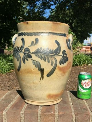 Decorated Stoneware Crock - Greensboro Pa
