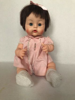 "Madame Alexander 1965 Vintage "" Sweet Tears "" Baby Doll With Open/close Eyes 18 """