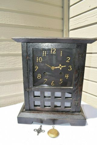 Antique Haven 8 Day Mission Arts & Crafts Mantel 8 Day Clock