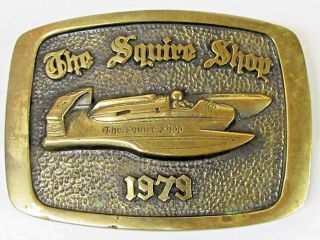 1979 The Squire Shop Limited Edition 48 Hydroplane Boat Racing Belt Buckle