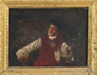 Fine Antique 19th Century Continental School Oil Painting - Signed