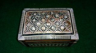 Small Vintage / Antique Micro Mosaic Inlaid Trinket Box.