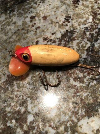 Vintage Fred Arbogast Early Jitterbug Fishing Lure Antique Tackle Box Bait Bass