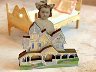 Artisan Miniature Dollhouse Faux Victorian Painted Lady Doll House Child