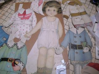 Antique Tall Boy Paper Doll - Over 100 Years Old