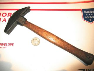 Antique Unknown Maker Farriers Hammer W/hand Made Handle Fair Antique Cond.