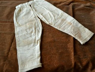"""Early Antique Doll Cotton Pantaloons Split Let Style For 24 - 26 """" Doll"""