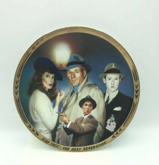 """Star Trek Next Generation Episodes Collector Plate """" The Big Goodbye """" 2357a"""