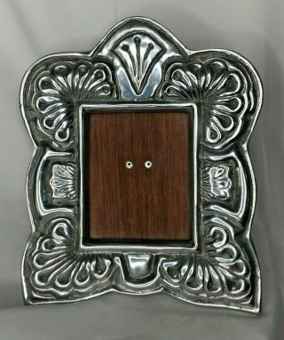 Pewter Picture Photo Frame - Mexico - Art Decorative Stunning