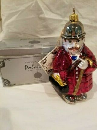 """Polonaise Ornament Dr.  Watson In The Box And Tag 5.  5 """" Previously Owned"""