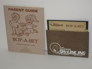 Vintage Apple Ii Software Game Sierra On - Line Bop - A - Bet