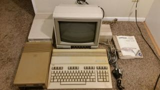 Commodore 128 With 1541 Disk Drive X2,  1902a Monitor,  Users Guide