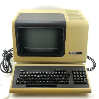 Digital Vt101 Computer Terminal With Keyboard,  Power Cord