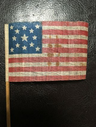 Authentic Antique 13 Star Civil War Parade Flag