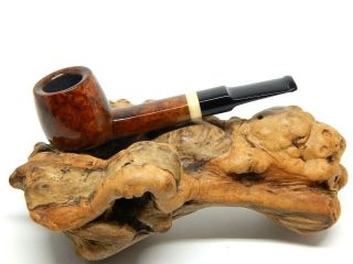 """Poul Ilsted Handcut Straight Cognac Shape With """" Bone """" Insert"""