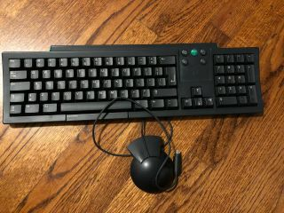 Rare Vintage Next Computer Keyboard,  Mouse Steve Jobs N8002 N8003 Apple Mac