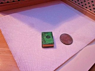 1:12 Scale Artisan Vintage Fake Book Safe With Expensive Necklace Inside/signed