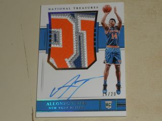 2018 - 19 National Treasures Gold Fotl Rookie Patch Auto Rc Rpa Allonzo Trier /20