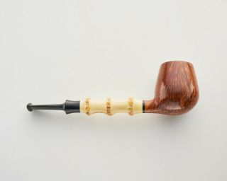 Estate Unsmoked J.  Alan Brandy Briar Pipe With Bamboo Shank.