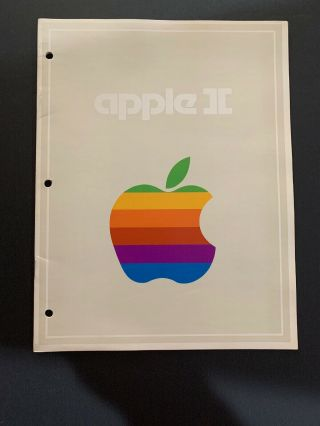 Vintage Apple Ii Personal Computer System Specification Booklet