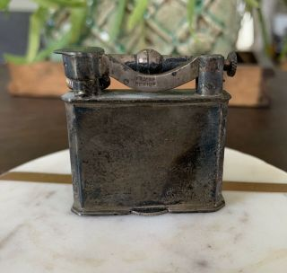 Vintage Antique Sterling Silver Mexico Lift Arm Lighter