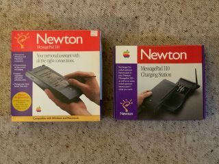 Apple Newton Messagepad 110 And Messagepad 110 Charging Station